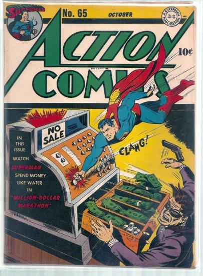 ACTION COMICS # 65, 7.5 VF -