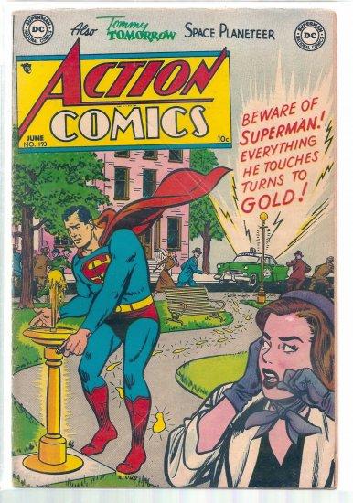ACTION COMICS # 193, 3.5 VG -