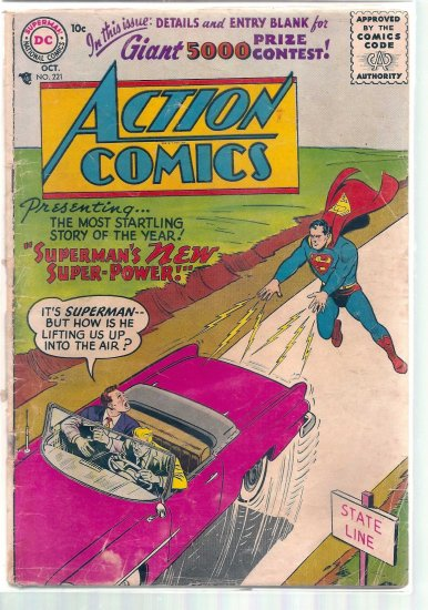 ACTION COMICS # 221, 1.5 FR/GD