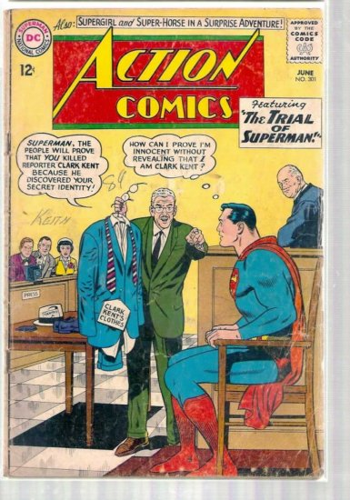 ACTION COMICS # 301, 2.0 GD