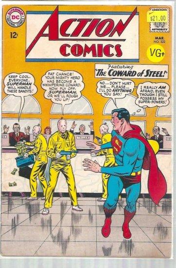 ACTION COMICS # 322, 4.5 VG +