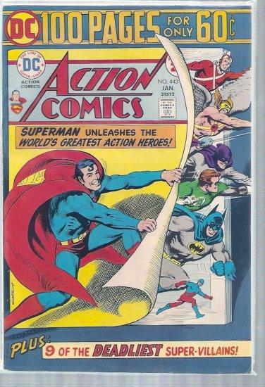 ACTION COMICS # 443, 7.0 FN/VF