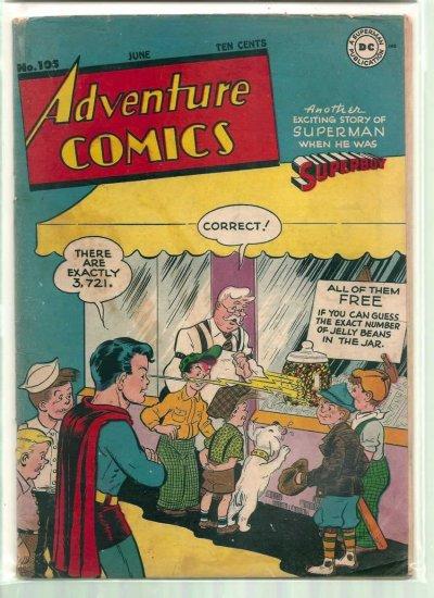 ADVENTURE COMICS # 105, 4.0 VG