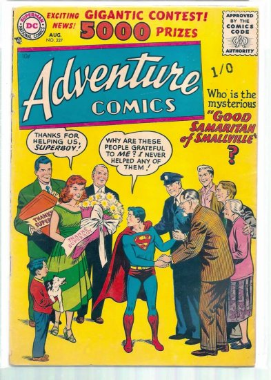 ADVENTURE COMICS # 227, 3.0 GD/VG