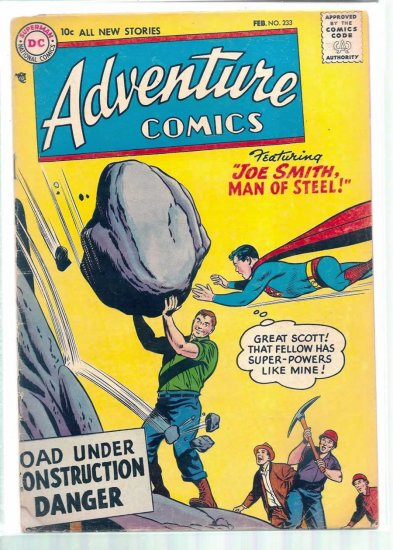 ADVENTURE COMICS # 233, 3.5 VG -