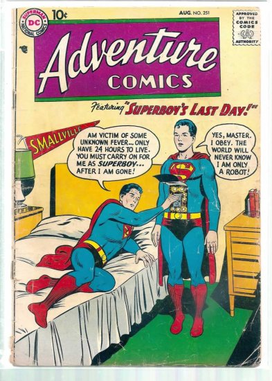 ADVENTURE COMICS # 251, 1.8 GD -