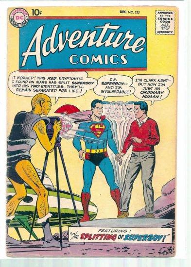 ADVENTURE COMICS # 255, 2.5 GD +