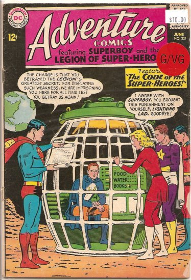 Adventure Comics # 321, 3.0 GD/VG