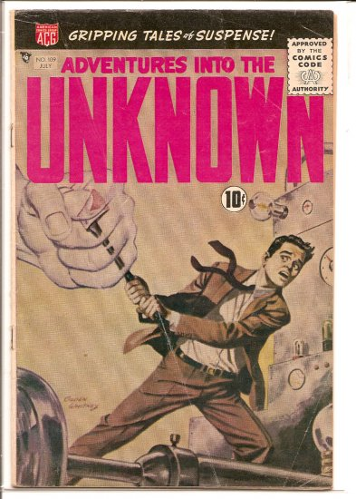 ADVENTURES INTO THE UNKNOWN # 109, 3.5 VG -