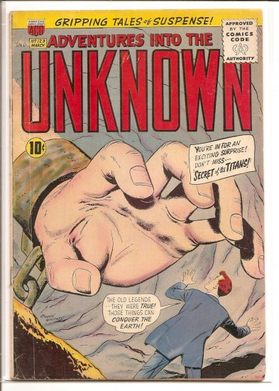 ADVENTURES INTO THE UNKNOWN # 123, 4.0 VG