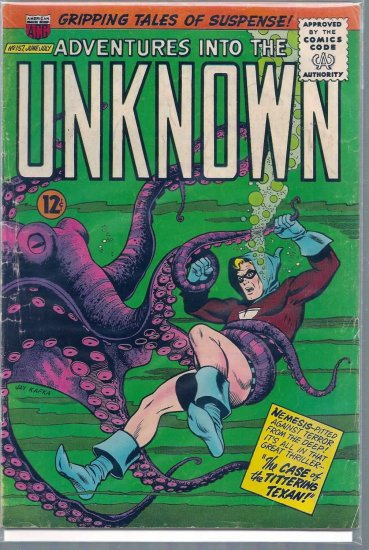 ADVENTURES INTO THE UNKNOWN # 157, 4.5 VG +