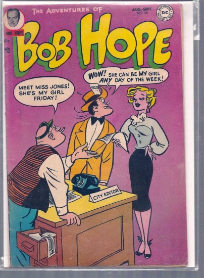 ADVENTURES OF BOB HOPE # 28, 4.0 VG