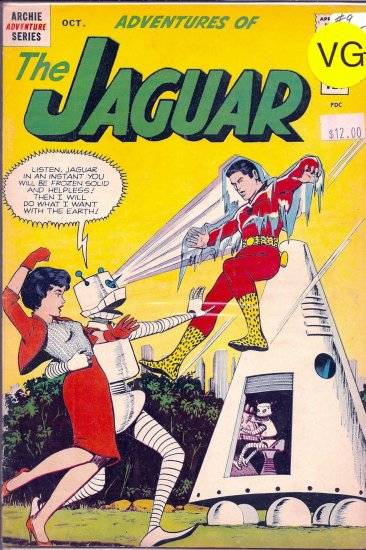 Adventures of the Jaguar # 9, 4.5 VG +