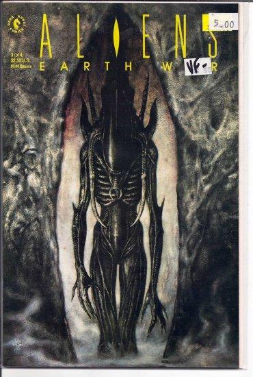 Aliens Earth War # 3, 7.5 VF -