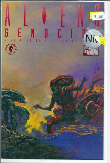 Aliens Genocide # 4, 9.2 NM -