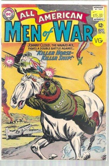 ALL AMERICAN MEN OF WAR # 105, 4.5 VG +