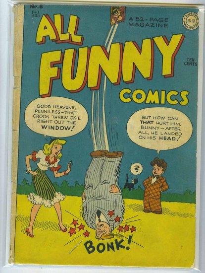All Funny Comics # 8, 2.5 GD +