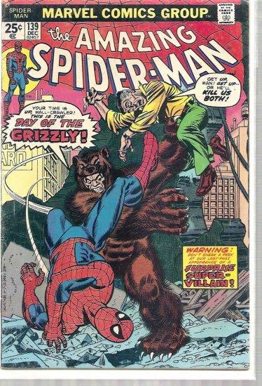 AMAZING SPIDER-MAN # 139, 4.0 VG