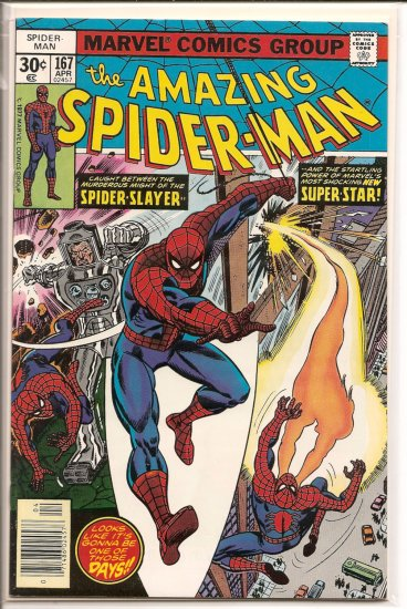 Amazing Spider-Man # 167, 9.0 VF/NM