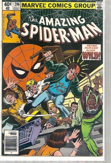 AMAZING SPIDER-MAN # 206, 4.5 VG +