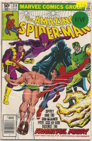 Amazing Spider-Man # 214, 7.0 FN/VF