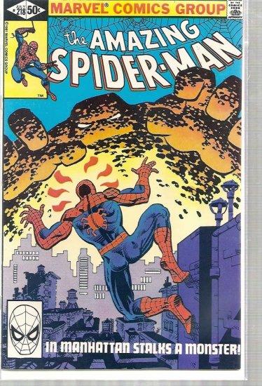 AMAZING SPIDER-MAN # 218, 6.5 FN +