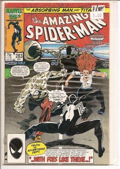 Amazing Spider-Man # 283, 7.0 FN/VF