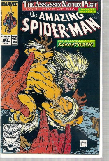 AMAZING SPIDER-MAN # 324, 9.0 VF/NM