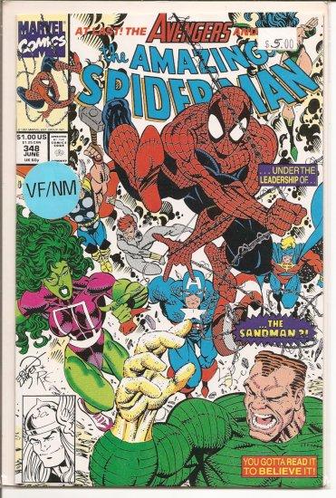 Amazing Spider-Man # 348, 9.0 VF/NM