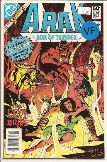 Arak/Son of Thunder # 2, 8.5 VF +