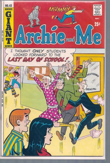 ARCHIE AND ME # 43, 7.5 VF -