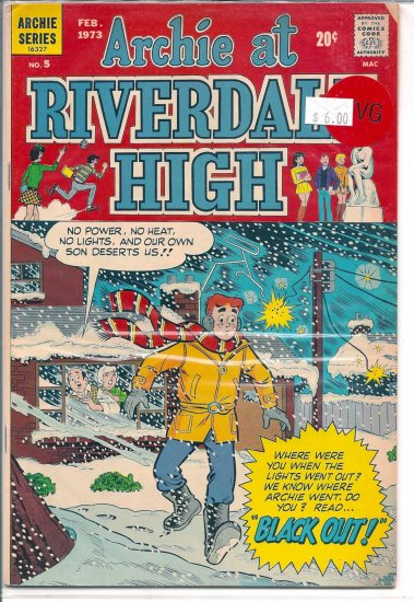 Archie At Riverdale High # 5, 4.0 VG