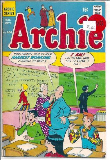 Archie Comics # 206, 4.0 VG