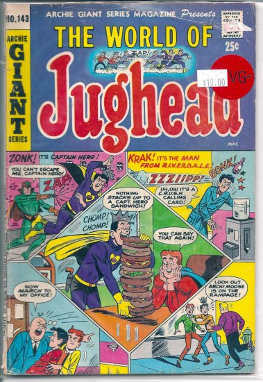 Archie Giant Series Magazine # 143, 3.5 VG -