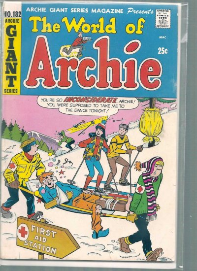 ARCHIE GIANT SERIES MAGAZINE # 182, 4.5 VG +