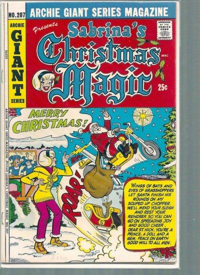 ARCHIE GIANT SERIES MAGAZINE # 207, 4.5 VG +