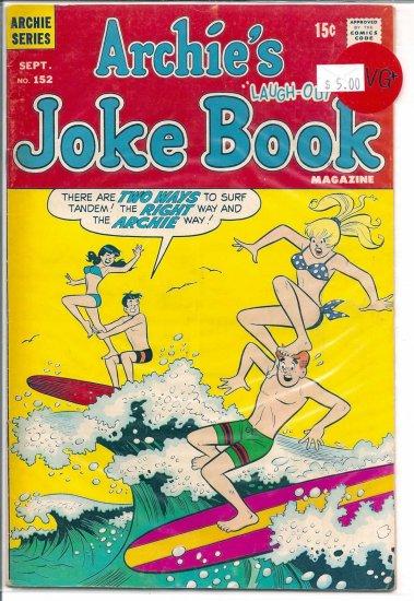 Archie's Joke Book Magazine # 152, 4.5 VG +