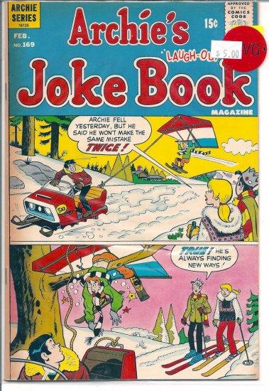 Archie's Joke Book Magazine # 169, 4.5 VG +