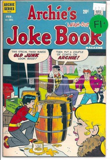Archie's Joke Book Magazine # 181, 6.5 FN +