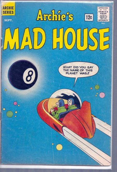 ARCHIE'S MAD HOUSE # 21, 4.0 VG