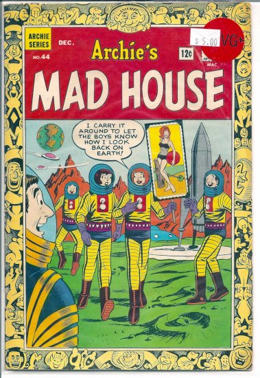 Archie's Madhouse # 44, 4.5 VG +