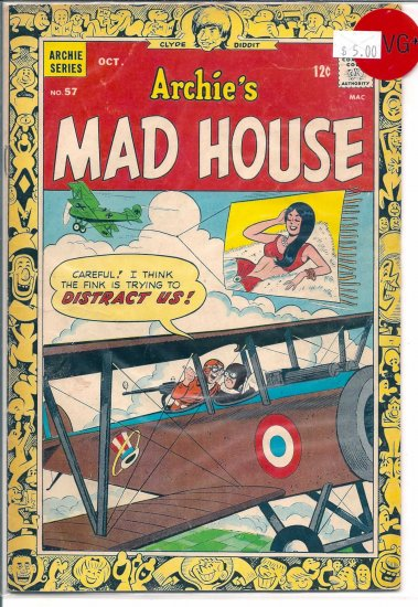 Archie's Madhouse # 57, 4.5 VG +