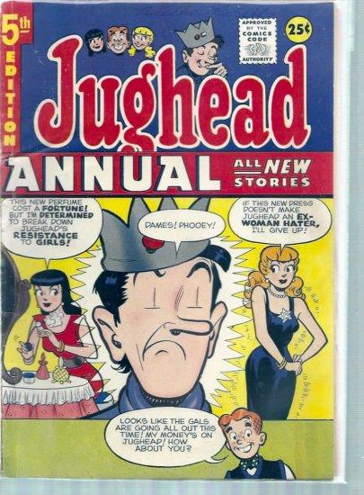 ARCHIE'S PAL JUGHEAD ANNUAL # 5, 4.0 VG