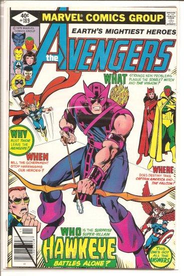 Avengers # 189, 6.0 FN
