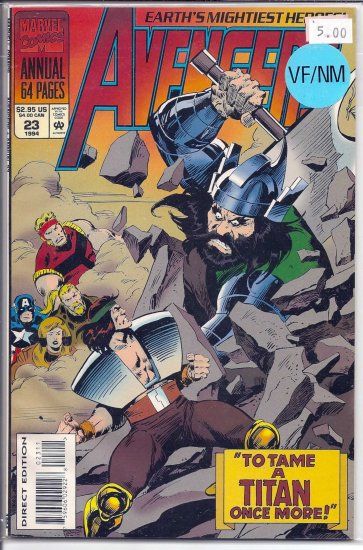 Avengers Annual # 23, 9.0 VF/NM