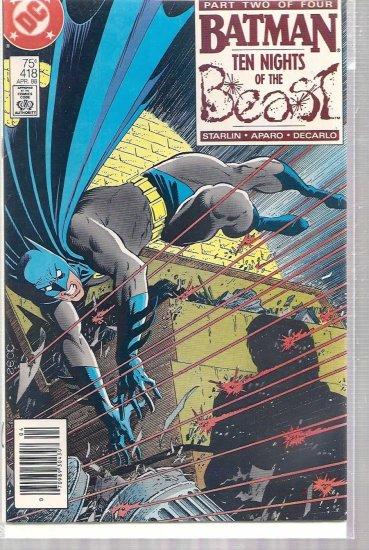 BATMAN # 418, 6.5 FN +