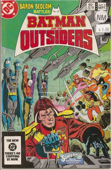 Batman and the Outsiders # 2, 9.4 NM