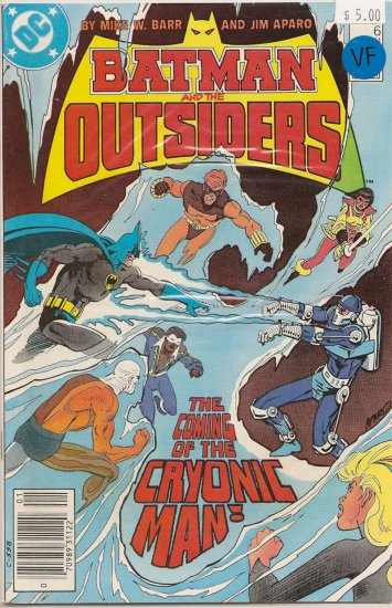 Batman and the Outsiders # 6, 9.4 NM