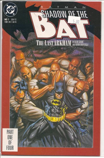Batman Shadow of the Bat # 1, 9.2 NM -