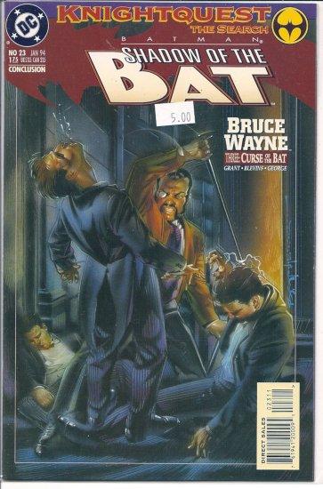Batman Shadow of the Bat # 23, 9.2 NM -